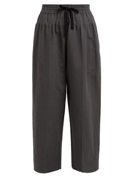 Haider Ackermann - Brighton Pintuck Cotton Blend Trousers - Womens - Grey
