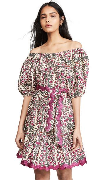 Juliet Dunn Blouson Dress in magenta