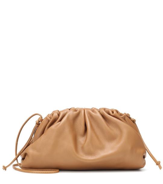Bottega Veneta The Pouch leather clutch in brown