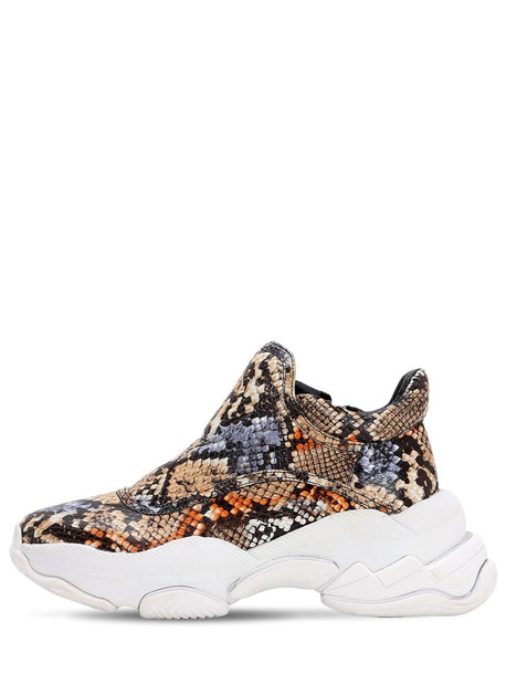 JEFFREY CAMPBELL 40mm Python Print Leather Sneakers in orange / multi