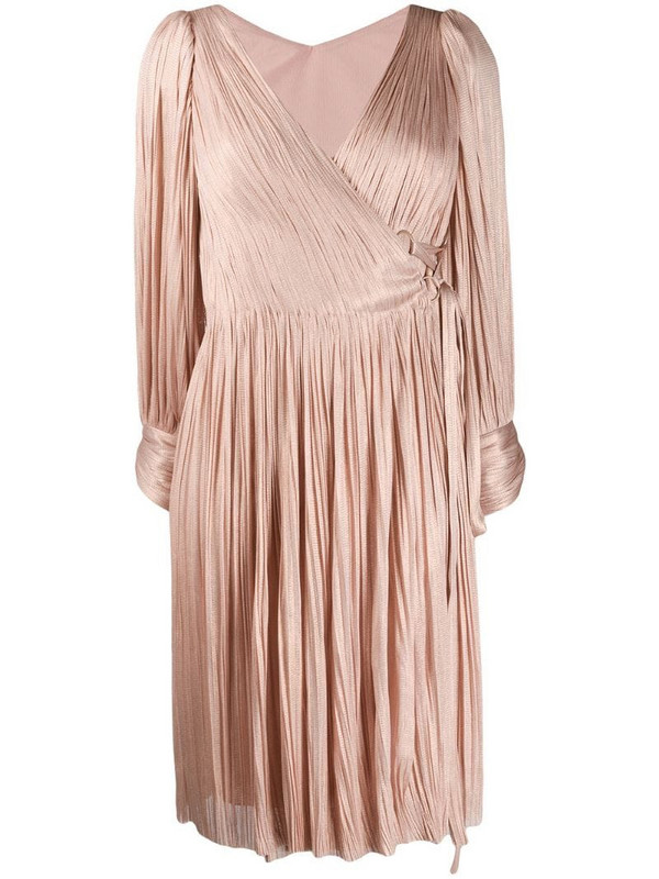 Maria Lucia Hohan Dianys pleated wrap dress in pink