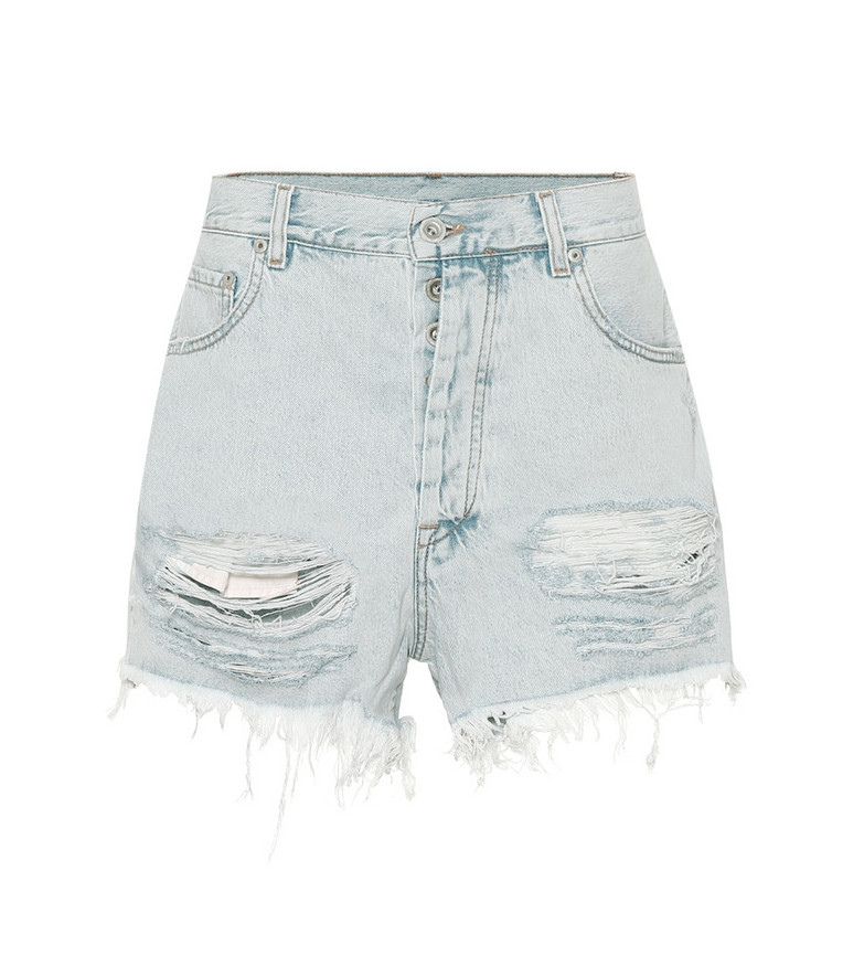 Unravel High-rise denim shorts in blue