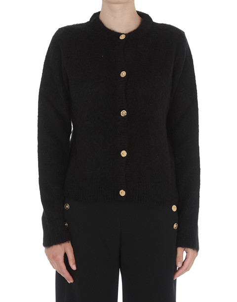 Versace Mohair Cardigan With Medusa Buttons in black