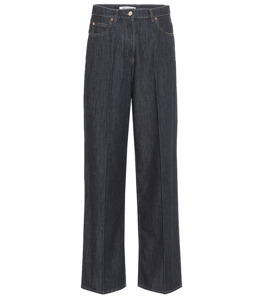 Valentino High-rise wide-leg jeans in blue