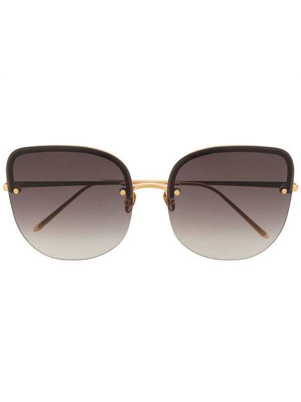 Linda Farrow Loni cat-eye frame sunglasses in gold