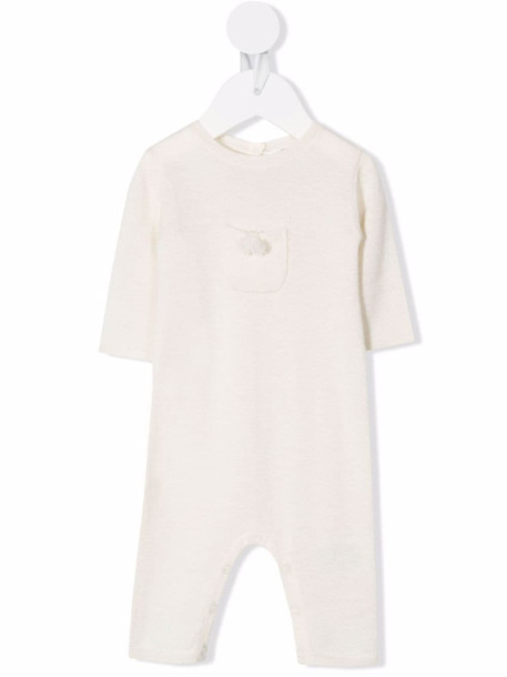 Bonpoint pompom-embellished cashmere romper - White