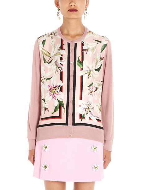 Dolce & Gabbana gigli Cardigan in pink