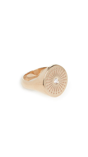 Zoe Chicco 14k Gold Sunbeam Signet Ring