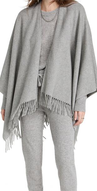 Rag & Bone Casmhere Poncho in gray