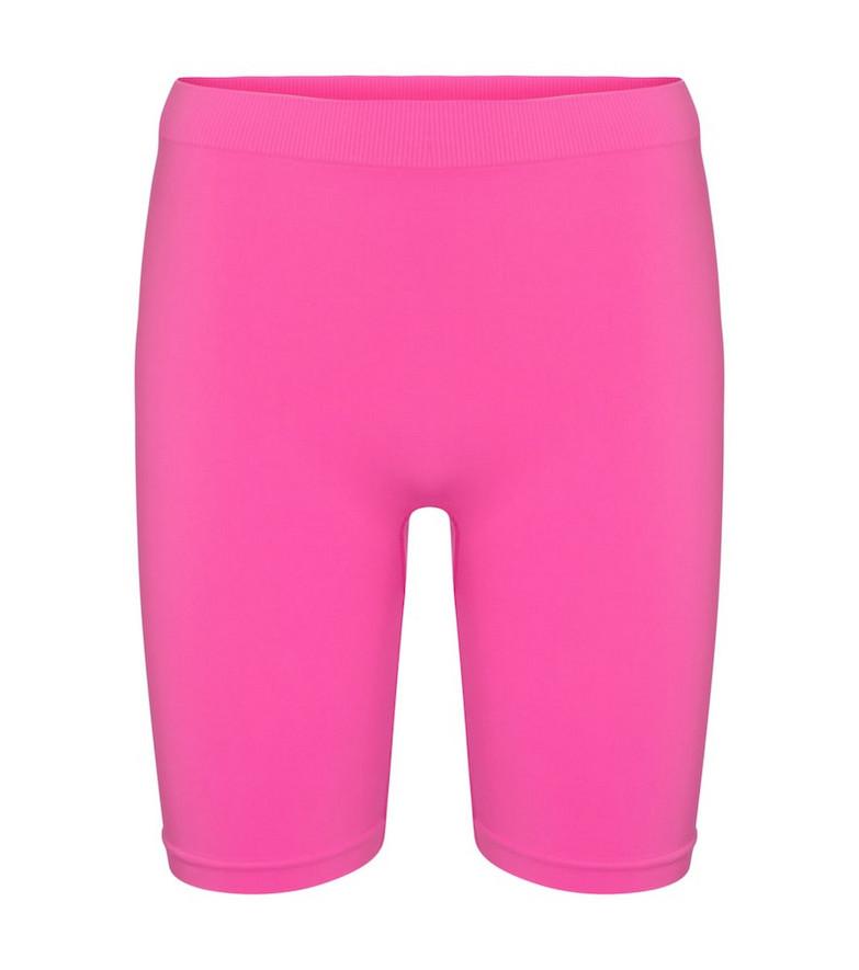 Helmut Lang Stretch-jersey biker shorts in pink