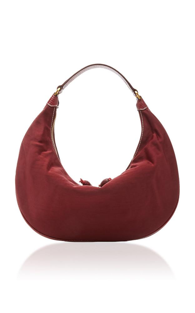 Staud Sasha Satin Shoulder Bag in purple