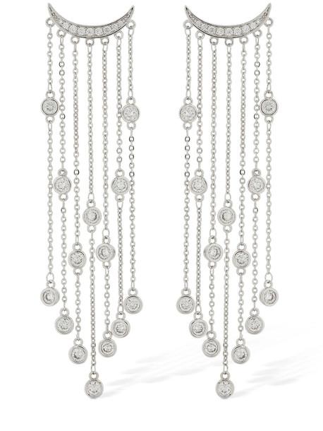 FEDERICA TOSI Big Rain Crystal Earrings in silver