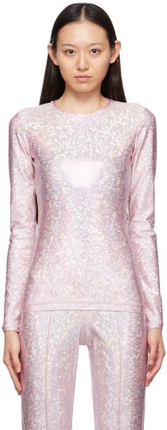 Saks Potts Pink Shimmer Saya Long Sleeve T-Shirt