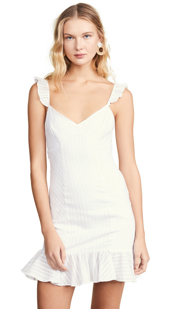 LIKELY Mina Dress in white