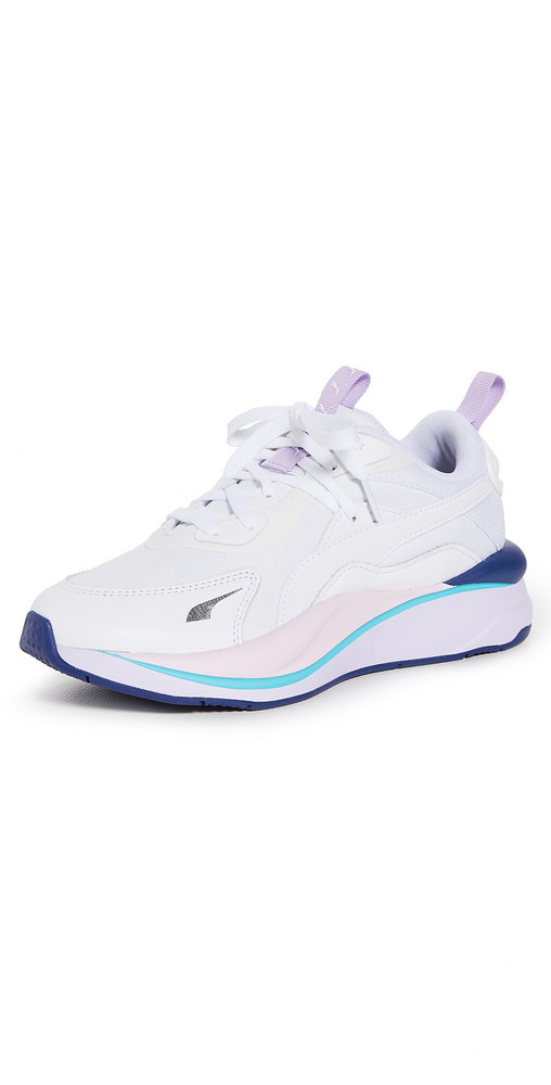 PUMA RS Curve Solar Sneakers in lavender / white