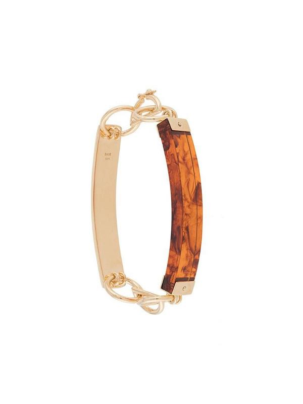 BAR JEWELLERY Barette mixed bracelet in gold