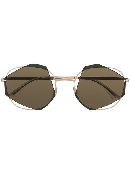 Mykita geometric-frame sunglasses - Gold