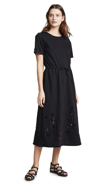 See by Chloe Cinched Waist Distressed Dress in black