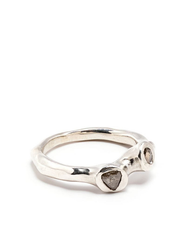 Rosa Maria crystal-embellished ring in silver