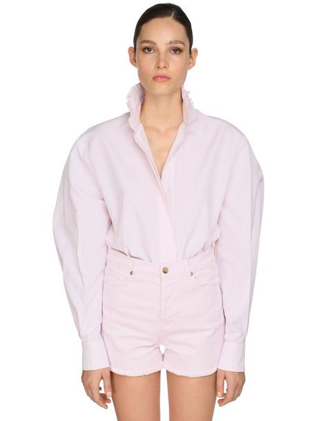 ALEXANDRE VAUTHIER Cotton Poplin Shirt in pink