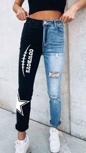 jeans,dallas cowboys,two tone