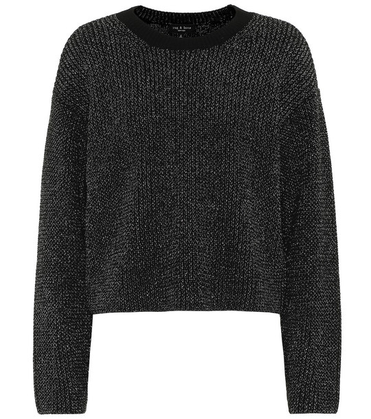 Rag & Bone Jubilee metallic sweater in black