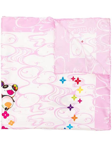 Louis Vuitton x Takashi Murakami 2003 pre-owned Panda Onion Head scarf in pink