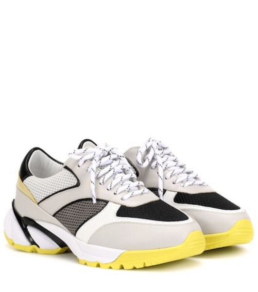 Axel Arigato Tech Runner leather sneakers in grey