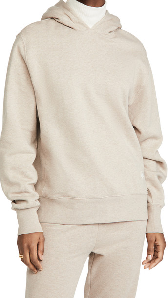 Tory Burch French Terry Melange Hoodie in natural