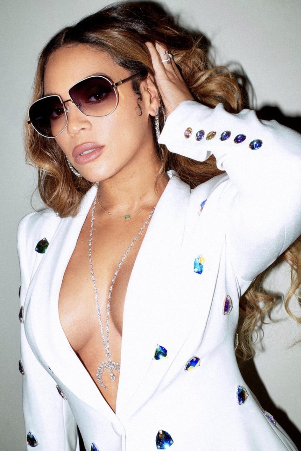 sunglasses blazer white beyonce celebrity