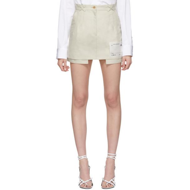 Off-White White Pockets Out Miniskirt