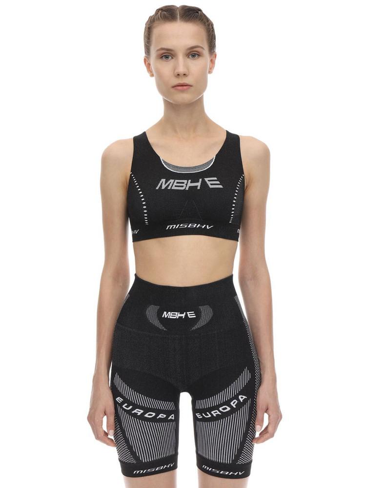 MISBHV Active Techno Jersey Sport Bra in black / white