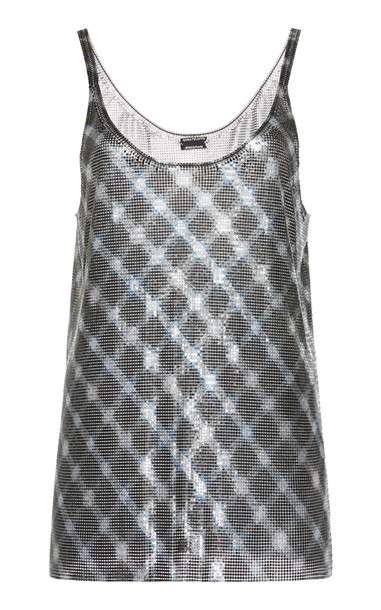 Paco Rabanne Metallic Chain-Link Tank Top Size: 42 in print