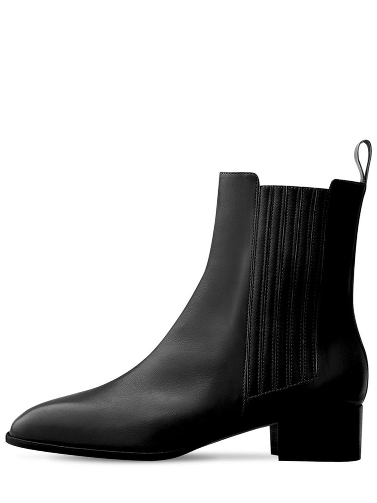 AEYDE 40mm Neil Leather Ankle Boots in black