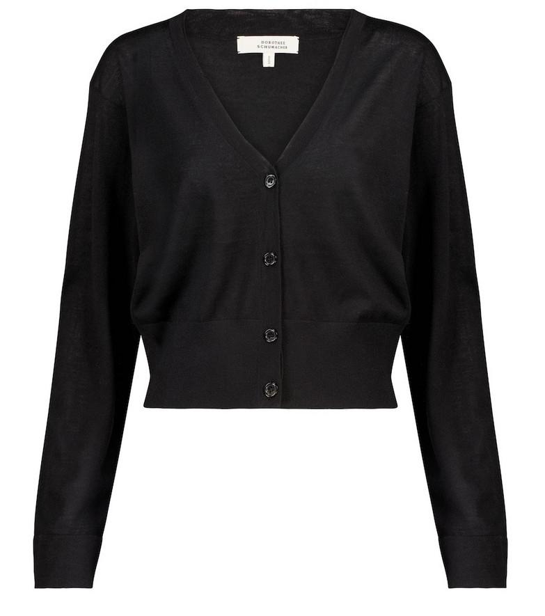 Dorothee Schumacher Open Mind wool and silk cardigan in black