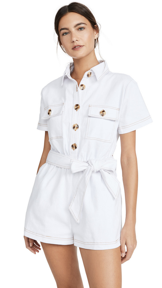Charlie Holiday Tropez Romper in white