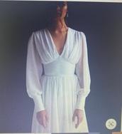 dress,long sleeves,white dress,short dress,boho dress