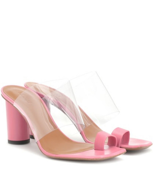 Neous Exclusive to Mytheresa – Chost leather sandals in pink