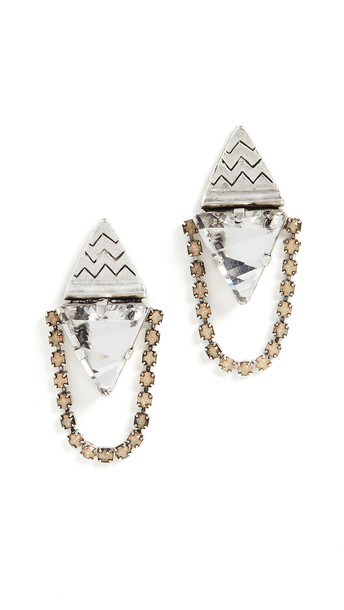 Lionette by Noa Sade London Triangle Earrings in silver