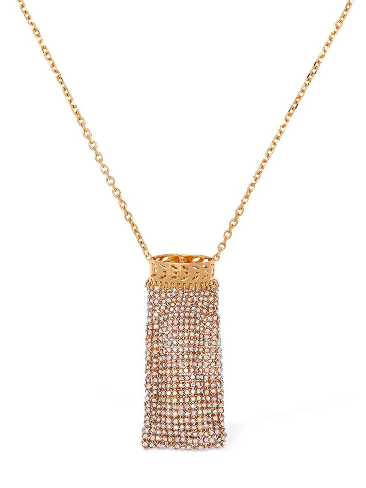 VERSACE Embellished Lighter Case Long Necklace in gold