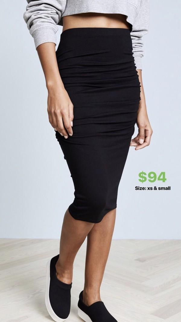 skirt black skirt midi skirt