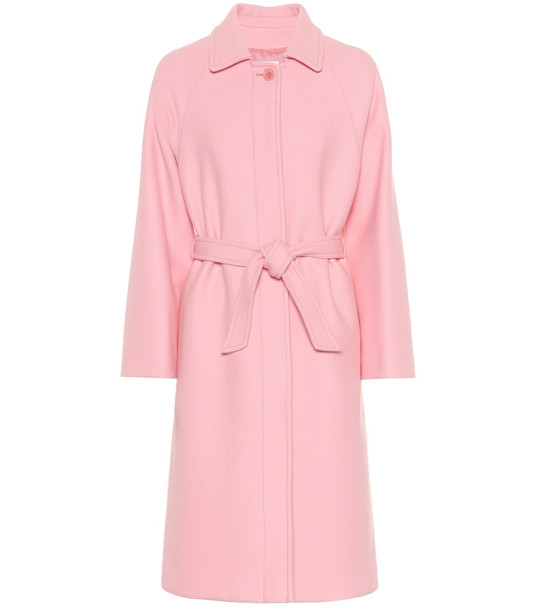 REDValentino Wool and cashmere-blend coat in pink