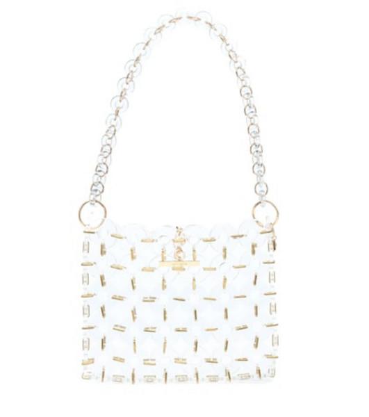 Cult Gaia Jasmin acrylic shoulder bag in white