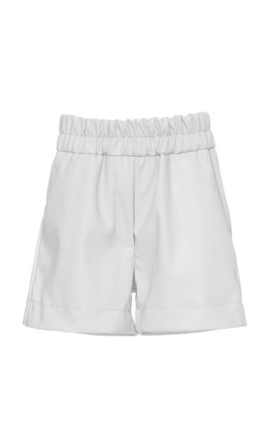 Studio Cut Mini Faux Leather Shorts Size: XS in white
