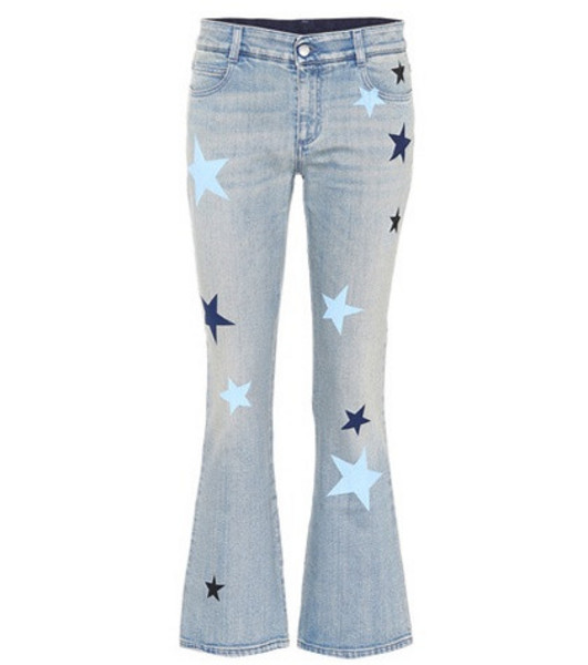 Stella McCartney Star-printed flared jeans in blue