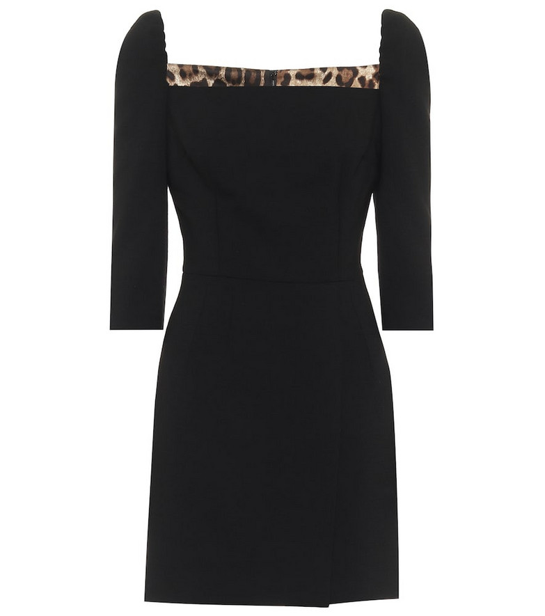 Dolce & Gabbana Stretch-wool minidress in black