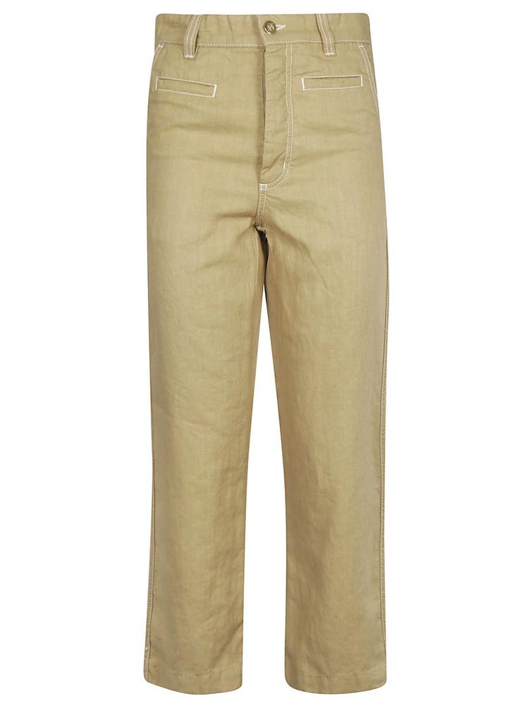 Loewe Cropped Trousers in beige