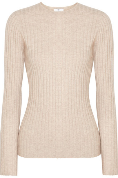 Allude - Ribbed Cashmere Sweater - Beige