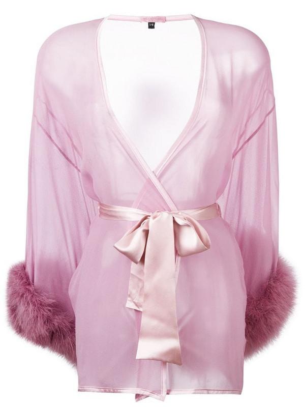 Gilda & Pearl Diana sheer kimono gown in pink