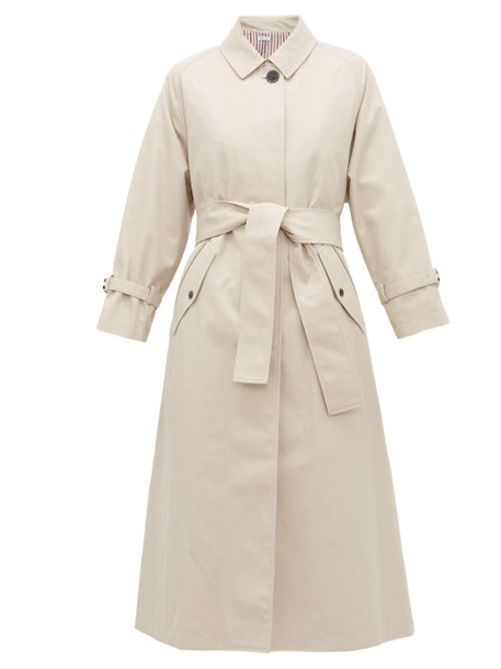 Thom Browne - Belted Twill Trench Coat - Womens - Beige